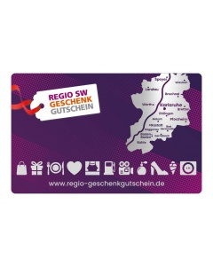 Regio Geschenkgutschein 5,- bis 100,- € (Betrag frei wählbar)